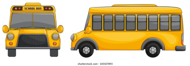 illustration of school bus on a white background