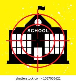 An illustration of school gun violence concept