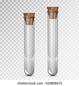 Illustration of scientific glassware - test tubes