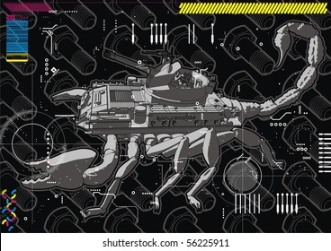 Illustration of a Scorpion Tank hybrid.