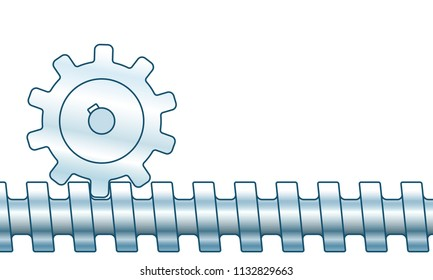 Illustration of the screw gear pair transmission