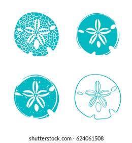 Illustration der Sea Sand Dollar Design Collection