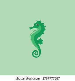 Illustration of seahorse. Isolated vector