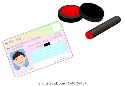 Illustration of seal and my number card