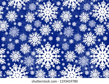 illustration with seamless background from snowflakes