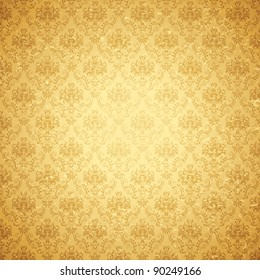 illustration of seamless floral background in vintage style