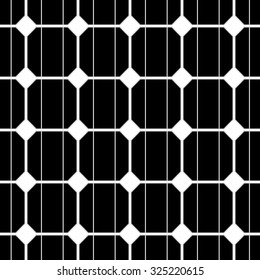 illustration of a seamless photovoltaik solar cell pattern. vector