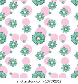 Illustration of a seamless wallpaper design