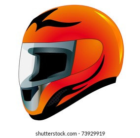 illustration send racing red insulated on white background