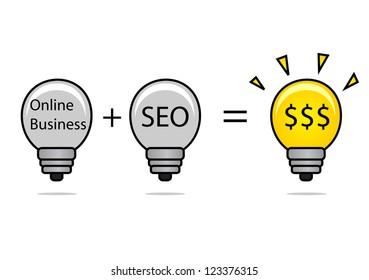 illustration of SEO idea