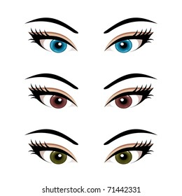 types eye makeup cat eyeliner tutorial stock vector 429460906 rh shutterstock com