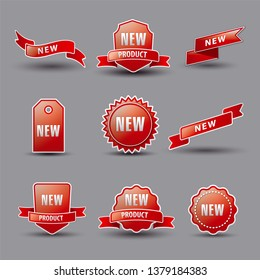 illustration of set new advertising banners and labels