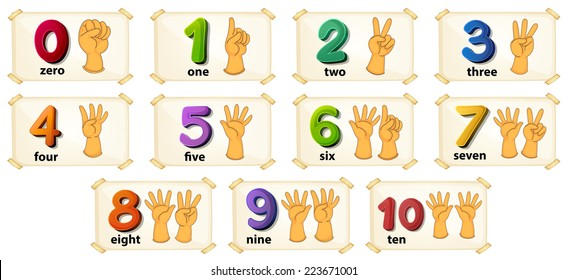 graphic regarding Printable Numbers 1 10 Flashcards identify Math Flash Playing cards Photos, Inventory Images Vectors Shutterstock
