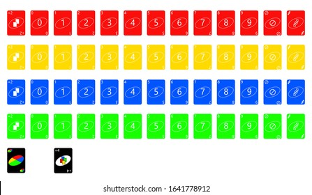 the illustration - set of the playing cards of all numbers.