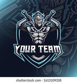 Illustration of shinobi logo for club team template