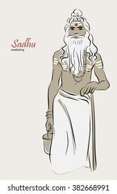 Illustration, Shiva's sadhu, yoga