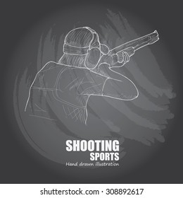 illustration  of Shooting sports