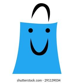 Illustration of shopping bag.