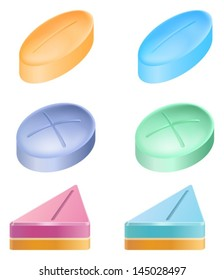 Illustration showing the medicinal pills