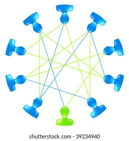 illustration showing a social network