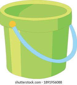 The illustration shows a bucket. Can be used in apps and games for children.