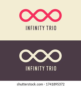 The illustration shows the infinity trio sign. Modern graphics. Element for your design.