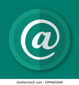 Illustration of at sign green icon design
