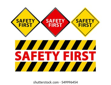 illustration of sign for safety first