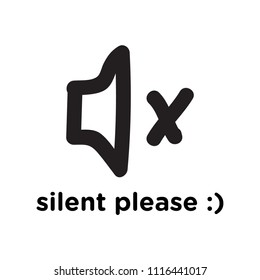 illustration to silent your cellphone