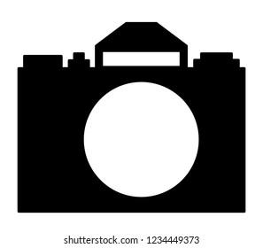 Illustration of the silhouette camera icon