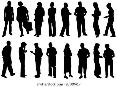 Illustration of silhouette people