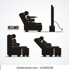 Illustration of silhouettes of humans in everyday activities, vector illustration