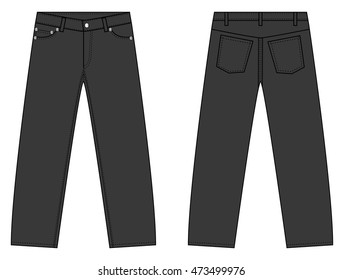 Illustration of simple  denim pants