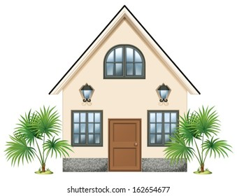 Illustration of a simple house on a white background