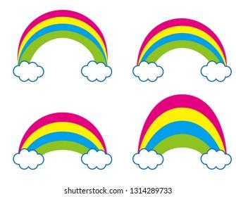 Illustration of a simple rainbow.