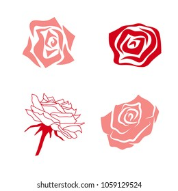 Illustration of Simple Rose Collection