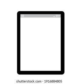 Illustration of a simple tablet PC