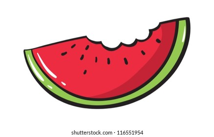 Illustration of a simple watermelon