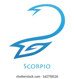 Illustration of Simplistic Lines Scorpio Zodiac Star Sign isolated on a white background