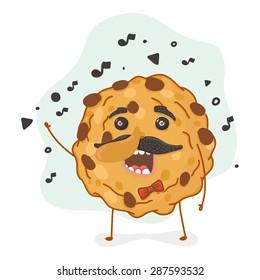 Illustration singing cookies