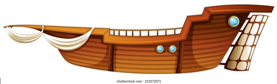 Illustration of a single boat