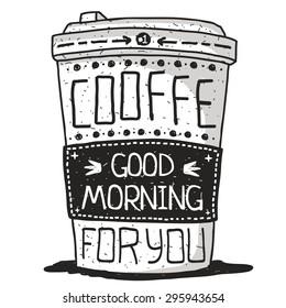 Illustration sketch coffee mug