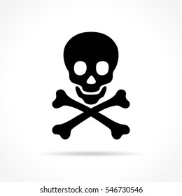 Illustration of skulls icon on white background