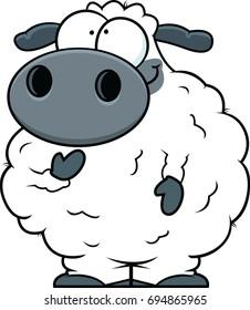 Illustration of a small cartoon sheep.