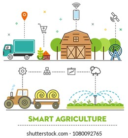 Illustration of smart agriculture.