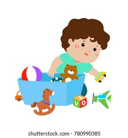 Children Cleaning Up Toys Stock Illustrations Images Vectors