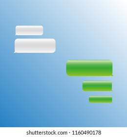 Illustration of SMS-correspondence