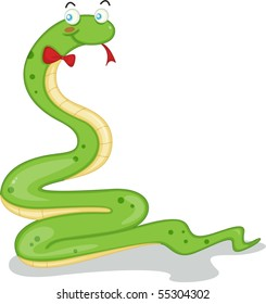 Illustration of a snake on a white background