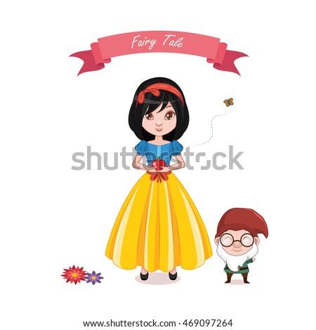 Illustration of snow white