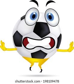 Illustration of a Soccer Ball Mascot Walking Happily